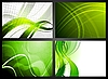 Vector clipart: Set of green backdrops