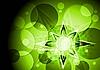 Векторный клипарт: Зеленый яркий высоко-технологичный дизайн