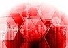 Векторный клипарт: Красный дизайн в стиле хайтек