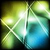 Векторный клипарт: Сине-зеленый абстрактный дизайн