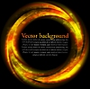 Vector clipart: Orange ring on black backdrop