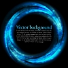 Vector clipart: Blue ring on black backdrop