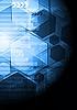 Azul oscuro diseño de alta tecnología | Ilustración vectorial