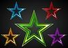 Векторный клипарт: Красочные звезды