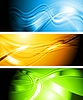 Vector clipart: Set of vibrant wavy banners
