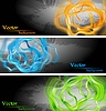 Vector clipart: Vibrant banners