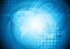 Mapa del mundo azul de diseño | Ilustración vectorial