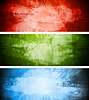 Vector clipart: Bright textural backgrounds set