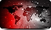 Vector clipart: World map design