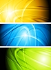 Vector clipart: Abstract glowing banners collection