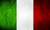 Vector clipart: Italian grunge flag