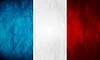 Vector clipart: French grunge flag