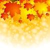 Vector clipart: Colourful autumn background