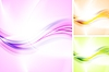 Vector clipart: Bright waves backgrounds