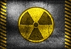 Vector clipart: Grunge nuclear radiation symbol