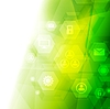 Vector clipart: Abstract bright green tech background