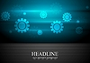Vector clipart: Contrast blue and black tech background with gears