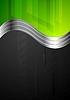 Векторный клипарт: Технология яркий фон с металлическими волн