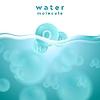 H2O blau Wasseroberfläche mit Molekül abstrakten Design | Stock Vektrografik
