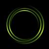 Graphic abstract green circles logo