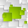 Vector clipart: Abstract green grey squares tech background