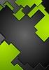 Tecnología verde fondo de contraste negro | Ilustración vectorial