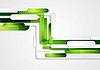 Vector clipart: Abstract green geometric corporate tech background