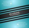 Vector clipart: Cyan turquoise corporate art design