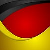 Corporate wavy bright abstract background. German