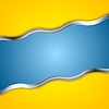 Vector clipart: Yellow blue contrast background with metal waves
