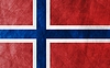 Vector clipart: Grunge flag Norway