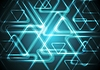 Vector clipart: Dark cyan glowing triangles. Tech geometric