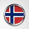 Vector clipart: Metal button flag of Norway