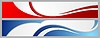 Vector clipart: Abstract corporate waves bright banners