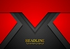 Vector clipart: Red concept art tech background