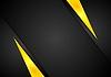 Vector clipart: Dark contrast black yellow background