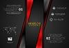 Vector clipart: Contrast black red tech presentation brochure