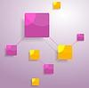 Grafik-minimalistisches Design mit hellen Quadraten | Stock Vektrografik
