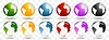 Vector clipart: Bright earth globes design