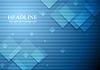Vector clipart: Hi-tech geometric dark blue background