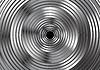 Vector clipart: Metallic circles abstract design