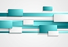 Vector clipart: Cyan and white rectangles and stripes. Tech