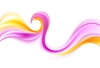 Vector clipart: Orange and purple smooth waves
