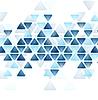 Vector clipart: Blue tech triangles