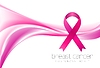 Vector clipart: Breast cancer awareness month. Smooth wave and