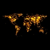 Vector clipart: Bright glowing map on night