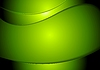 Vector clipart: Abstract green wavy background