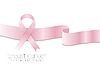 Vector clipart: Breast cancer awareness month background