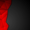 Dark abstract Tech polygonale Gestaltung | Stock Vektrografik