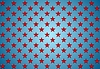 Vector clipart: Abstract red stars on blue background